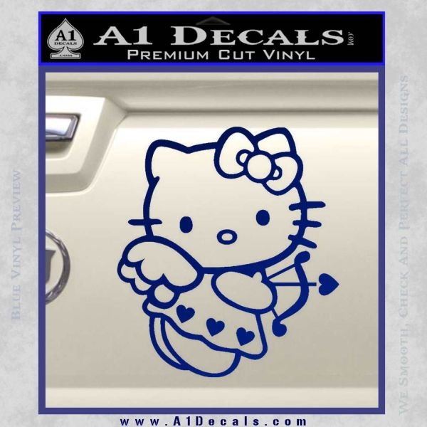 Hello kitty cupid decal sticker Blue Vinyl