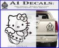 Hello kitty cupid decal sticker Carbon FIber Black Vinyl 120x97