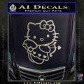 Hello kitty cupid decal sticker Metallic Silver Emblem 120x120