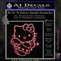 Hello kitty cupid decal sticker Pink Emblem 120x120