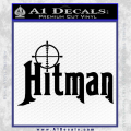 Hitman Hunting Decal Sticker Black Vinyl 120x120