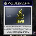 Java Script Code D1 Decal Sticker Yellow Laptop 120x120