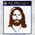 Jesus Face New 1 Decal Sticker BROWN Vinyl 120x120