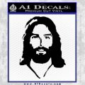 Jesus Face New 1 Decal Sticker Black Vinyl 120x120