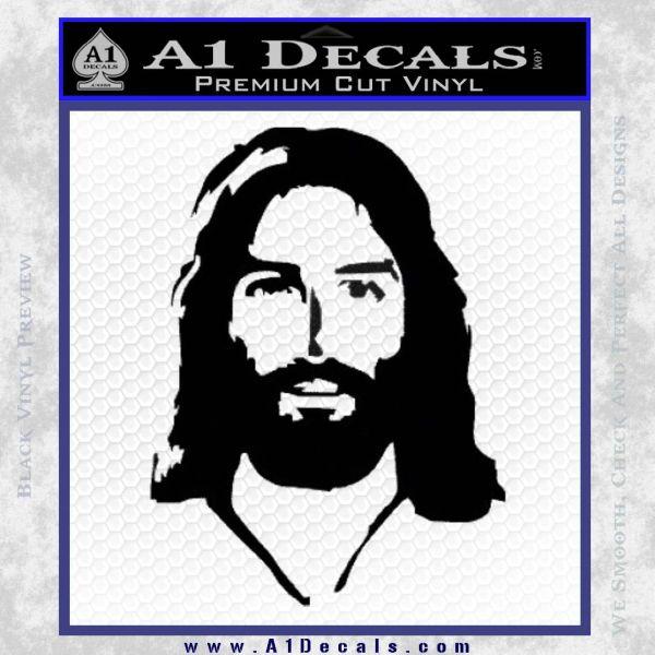 Jesus Face New 1 Decal Sticker Black Vinyl