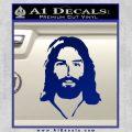 Jesus Face New 1 Decal Sticker Blue Vinyl 120x120