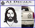 Jesus Face New 1 Decal Sticker Carbon FIber Black Vinyl 120x97