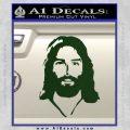 Jesus Face New 1 Decal Sticker Dark Green Vinyl 120x120
