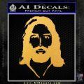 Jesus Face New 1 Decal Sticker Gold Vinyl 120x120