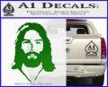 Jesus Face New 1 Decal Sticker Green Vinyl Logo 120x97