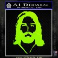 Jesus Face New 1 Decal Sticker Lime Green Vinyl 120x120