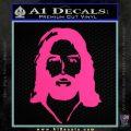 Jesus Face New 1 Decal Sticker Pink Hot Vinyl 120x120