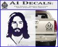Jesus Face New 1 Decal Sticker PurpleEmblem Logo 120x97