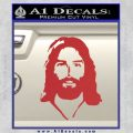 Jesus Face New 1 Decal Sticker Red 120x120