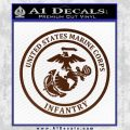 Marine Corp Infantry Emblem D2 Decal Sticker BROWN Vinyl 120x120