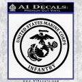 Marine Corp Infantry Emblem D2 Decal Sticker Black Vinyl 120x120