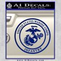 Marine Corp Infantry Emblem D2 Decal Sticker Blue Vinyl 120x120