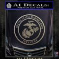 Marine Corp Infantry Emblem D2 Decal Sticker Carbon FIber Chrome Vinyl 120x120