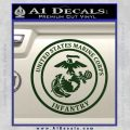 Marine Corp Infantry Emblem D2 Decal Sticker Dark Green Vinyl 120x120