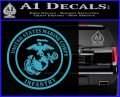 Marine Corp Infantry Emblem D2 Decal Sticker Light Blue Vinyl 120x97