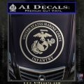 Marine Corp Infantry Emblem D2 Decal Sticker Metallic Silver Emblem 120x120