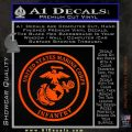 Marine Corp Infantry Emblem D2 Decal Sticker Orange Emblem 120x120