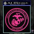 Marine Corp Infantry Emblem D2 Decal Sticker Pink Hot Vinyl 120x120