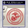 Marine Corp Infantry Emblem D2 Decal Sticker Red 120x120