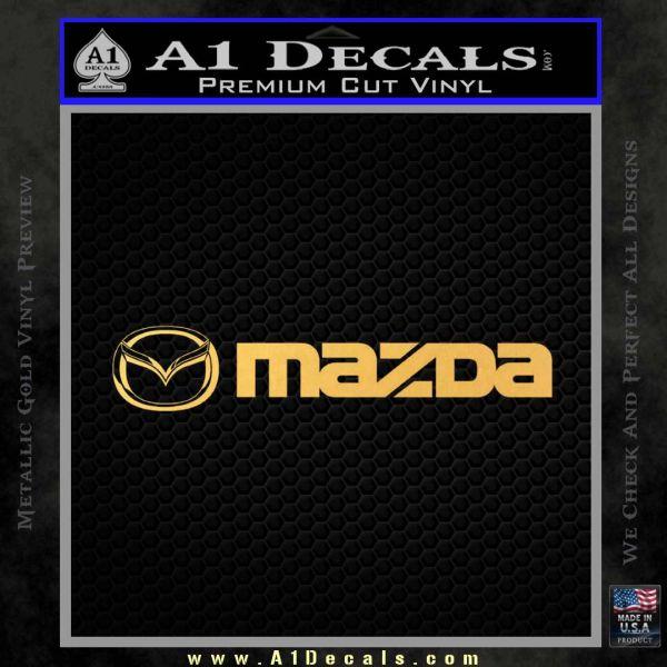 Mazda Decal Sticker Wide Gold Vinyl