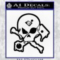 Motorsports Pirate D2 Decal Sticker Black Vinyl 120x120