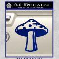 Mushroom Shroom Decal Sticker Blue Vinyl 120x120