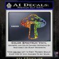 Mushroom Shroom Decal Sticker Glitter Sparkle 120x120