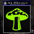 Mushroom Shroom Decal Sticker Lime Green Vinyl 120x120