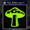 Mushroom Shroom Decal Sticker Lime Green Vinyl 120x120