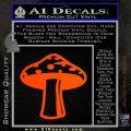 Mushroom Shroom Decal Sticker Orange Emblem 120x120