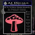 Mushroom Shroom Decal Sticker Pink Emblem 120x120