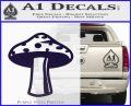 Mushroom Shroom Decal Sticker PurpleEmblem Logo 120x97
