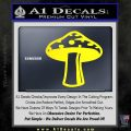 Mushroom Shroom Decal Sticker Yellow Laptop 120x120