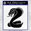Mustang Cobra Decal Sticker Black Vinyl 120x120