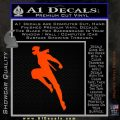 Ninja Decal Sticker Orange Emblem 120x120