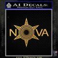 Nova Disc Golf Decal Sticker Gold Vinyl 120x120