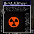 Nuclear Radiation Decal Sticker Orange Emblem 120x120