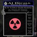 Nuclear Radiation Decal Sticker Pink Emblem 120x120
