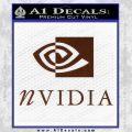 Nvidia Full Decal Sticker BROWN Vinyl 120x120