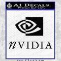 Nvidia Full Decal Sticker Black Vinyl 120x120