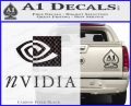 Nvidia Full Decal Sticker Carbon FIber Black Vinyl 120x97