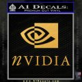 Nvidia Full Decal Sticker Gold Vinyl 120x120