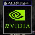 Nvidia Full Decal Sticker Lime Green Vinyl 120x120