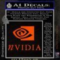 Nvidia Full Decal Sticker Orange Emblem 120x120