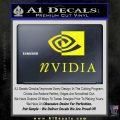Nvidia Full Decal Sticker Yellow Laptop 120x120